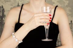 Ella Gafter Ella Gafter White South Sea Pearl and Diamond Bracelet - 1009739