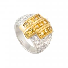 Ella Gafter Ella Gafter Yellow Sapphire and Diamond Cocktail Ring - 1097321