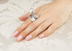 Ella Gafter Ella Gafter Zodiac Aquarius Ring with South Sea Pearl and Diamonds - 1021324