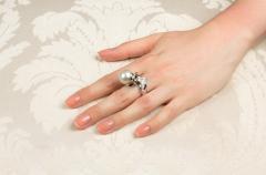 Ella Gafter Ella Gafter Zodiac Aquarius Ring with South Sea Pearl and Diamonds - 1021755