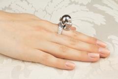 Ella Gafter Ella Gafter Zodiac Gemini Ring with Tahitian Pearl and Diamonds - 1014521