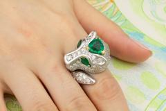 Ella Gafter Ella Gafter Zodiac Leo Ring with Emerald and Diamonds - 1021309
