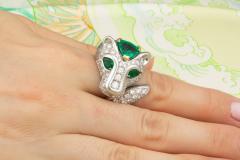 Ella Gafter Ella Gafter Zodiac Leo Ring with Emerald and Diamonds - 1021311