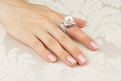 Ella Gafter Ella Gafter Zodiac Sagittarius Ring with South Sea Pearl and Diamonds - 1021505