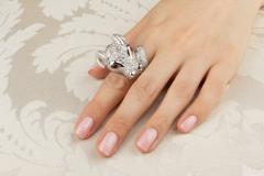 Ella Gafter Ella Gafter Zodiac Taurus Ring with Diamonds and Ruby - 1014472