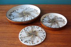 Ellen Malmer Vintage BACA Fajence Plates by Ellen Malmer for Royal Copenhagen Set of Three - 690412