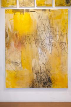 Elliot Twelvetrees American Modern Abstract Expressionist Mixed Media on Board Elliot Twelvetrees - 1352571