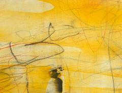 Elliot Twelvetrees American Modern Abstract Expressionist Mixed Media on Board Elliot Twelvetrees - 1349695