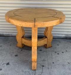 Ellis Woods Mission Style Round Table by Ellis Woods Signed and Dated - 1276177