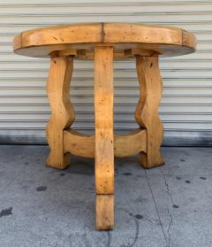 Ellis Woods Mission Style Round Table by Ellis Woods Signed and Dated - 1276181