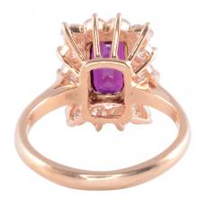 Elongated Oval Ruby Diamond 14KY Ring - 2129821