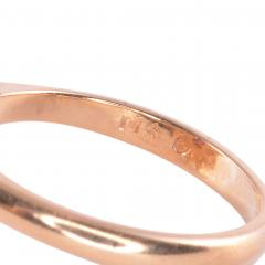 Elongated Oval Ruby Diamond 14KY Ring - 2129822