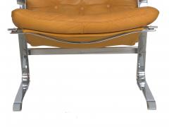 Elsa Nordahl Solheim Vintage Modern Leather Pirate Lounge Chair by Elsa Nordahl Solheim - 1163286
