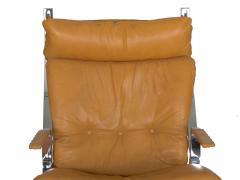 Elsa Nordahl Solheim Vintage Modern Leather Pirate Lounge Chair by Elsa Nordahl Solheim - 1163287