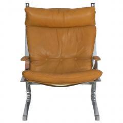 Elsa Nordahl Solheim Vintage Modern Leather Pirate Lounge Chair by Elsa Nordahl Solheim - 1163289