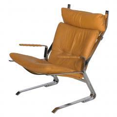 Elsa Nordahl Solheim Vintage Modern Leather Pirate Lounge Chair by Elsa Nordahl Solheim - 1163290