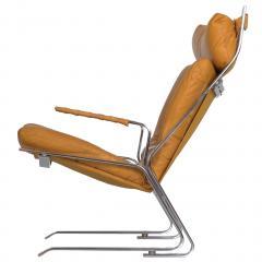 Elsa Nordahl Solheim Vintage Modern Leather Pirate Lounge Chair by Elsa Nordahl Solheim - 1163291
