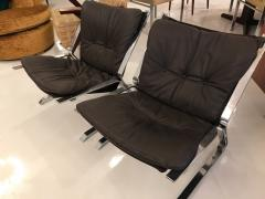 Elsa Nordahl Solheim pair of pirate lounge chairs - 1252301