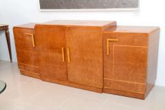 Ely Jacques Kahn Late Art Deco Birds Eye Maple and Maple Inlaid Credenza Eli Jacques Kahn - 41183