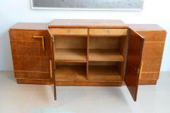 Ely Jacques Kahn Late Art Deco Birds Eye Maple and Maple Inlaid Credenza Eli Jacques Kahn - 41187