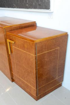 Ely Jacques Kahn Late Art Deco Birds Eye Maple and Maple Inlaid Credenza Eli Jacques Kahn - 41188
