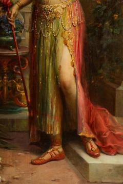 Emanuel Oberhauser Austrian 1854 1919 Full Length Orientalist Queen Oil - 2128774