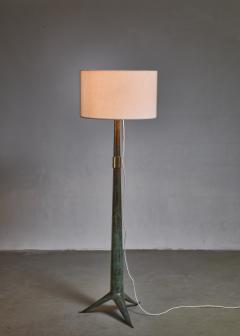 Emiel Veranneman Emiel Veranneman bronze floor lamp Belgium 1940s 50s - 1014170