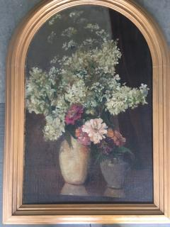 Emil Carlsen Snapdragons and Other Flowers in Two Vases - 1714427