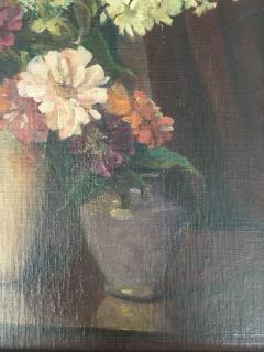 Emil Carlsen Snapdragons and Other Flowers in Two Vases - 1714431