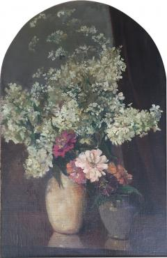 Emil Carlsen Snapdragons and Other Flowers in Two Vases - 1717921