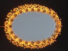 Emil Stejnar Illuminated Floral Crystal Mirror by Palwa - 449929