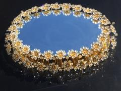 Emil Stejnar Illuminated Floral Crystal Mirror by Palwa - 449930