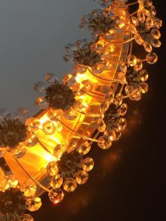 Emil Stejnar Illuminated Floral Crystal Mirror by Palwa - 449932