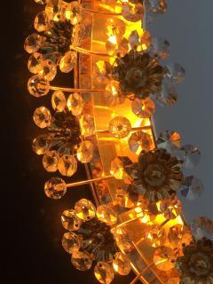Emil Stejnar Illuminated Floral Crystal Mirror by Palwa - 449933