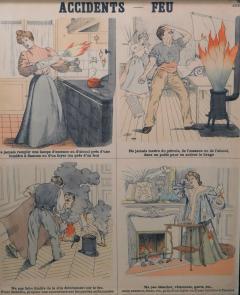 Emile Deyrolle 8 French Posters for Accident Prevention by Les Fils d Emile Deyrolle Paris - 1675574