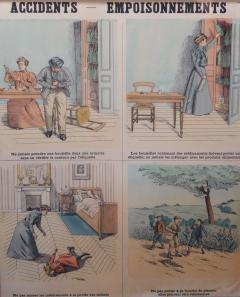Emile Deyrolle 8 French Posters for Accident Prevention by Les Fils d Emile Deyrolle Paris - 1675575