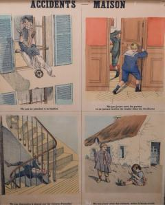 Emile Deyrolle 8 French Posters for Accident Prevention by Les Fils d Emile Deyrolle Paris - 1675576
