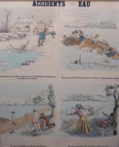 Emile Deyrolle 8 French Posters for Accident Prevention by Les Fils d Emile Deyrolle Paris - 1675577