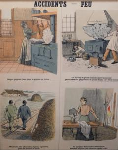 Emile Deyrolle 8 French Posters for Accident Prevention by Les Fils d Emile Deyrolle Paris - 1675579