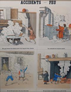 Emile Deyrolle 8 French Posters for Accident Prevention by Les Fils d Emile Deyrolle Paris - 1675580
