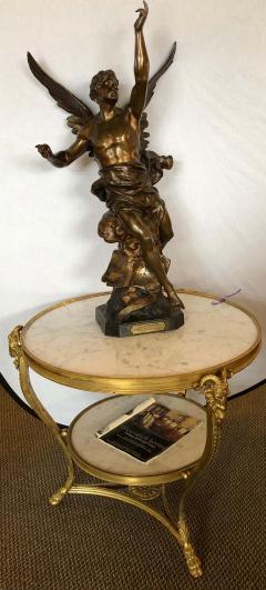 Emile Picault La Pensee by Emile Louis Picault Bears Foundry Mark 19th Century Bronze Statue - 1272713