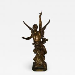 Emile Picault La Pensee by Emile Louis Picault Bears Foundry Mark 19th Century Bronze Statue - 1273490