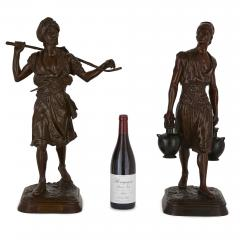 Emile Pinedo Two Orientalist patinated bronze sculptures by Debut and Pinedo - 1290522
