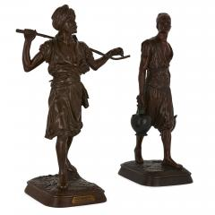 Emile Pinedo Two Orientalist patinated bronze sculptures by Debut and Pinedo - 1290530