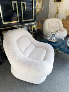 Emilio Guarnacci Pair of Nuava Armchairs Boucl Fabric by Emilio Guarnacci for 1P Italy 1970s - 1921749