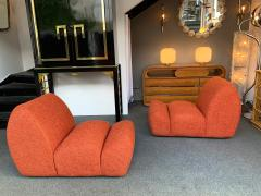 Emilio Guarnacci Pair of Paloa Chairs by Emilio Guarnacci for 1P Italy 1970s - 1581914