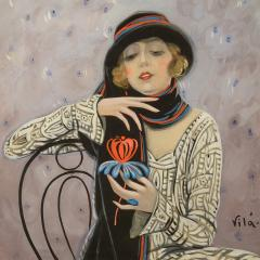 Emilio Vila Lady with a Flower - 1263950