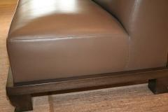 Emily Summers Studio Line Geoffrey Beene Sofa in Chocolate Top Stitch Leather - 662795