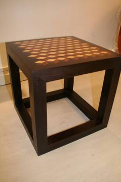 Emily Summers Studio Line Handcrafted End Table with Inlay Detail - 665180