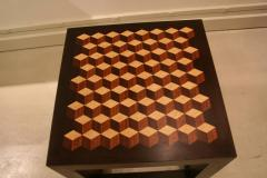 Emily Summers Studio Line Handcrafted End Table with Inlay Detail - 665184